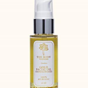 Aukso dulkių ir sandalmedžio veido aliejus – Gold Facial Oil img